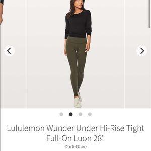 Lululemon Wunder Under Hi-Rise Tight